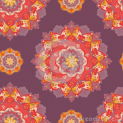 Ornamental round lace pattern. vector