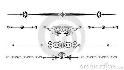 Ornamental rule lines Vector Illustration