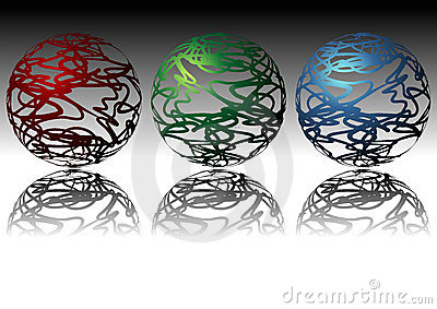 Ornamental Spheres Stock Photography - Image: 8154542