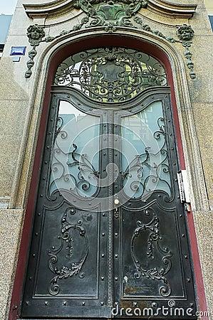 Ornamental steel door