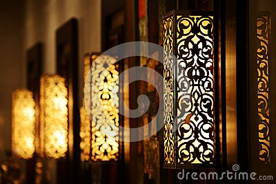 Ornamental vintage wall lamp