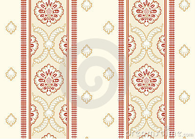 Ornamental wallpaper vector