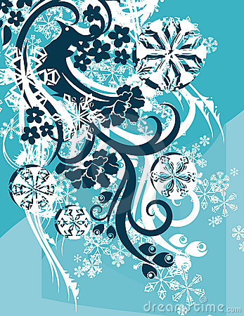 Ornamental winter background