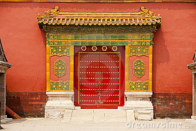 Ornamented Doors,Forbidden City, Beijing, China