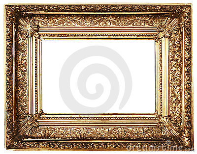 Ornamented Picture Frame Gold (Path Included)