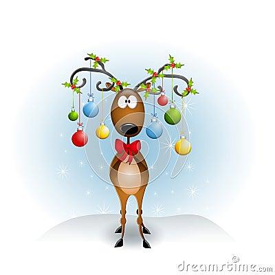Ornamenti della renna del fumetto