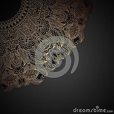 Ornamento del oro del vector.