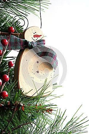 Ornamento escarchado de la Navidad