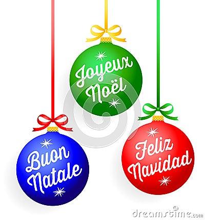Ornamentos del saludo de la Navidad