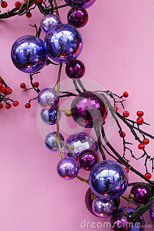Ornaments for christmas in purple