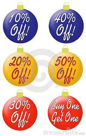 Ornaments with percentage off type