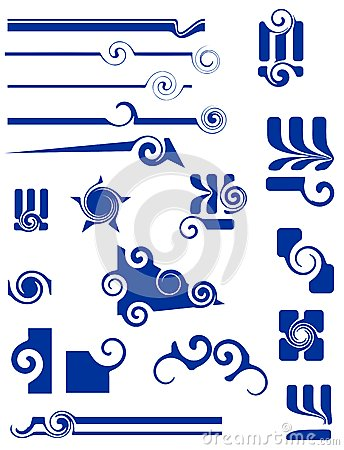 Ornaments and shapes for design
