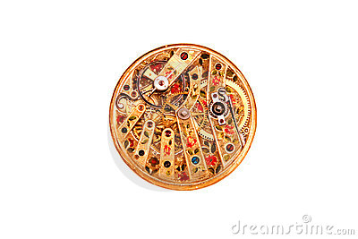 Ornate antique watch movement