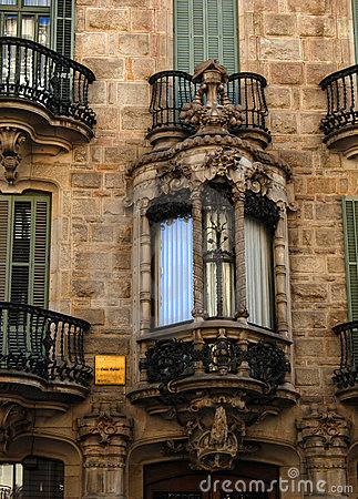 Ornate balconies