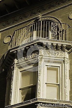 Ornate bay window
