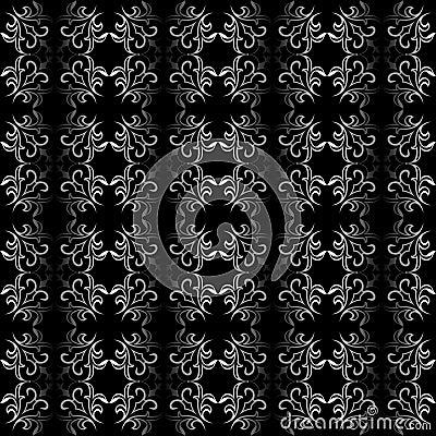 Ornate black and white seamless wallpaper   patter