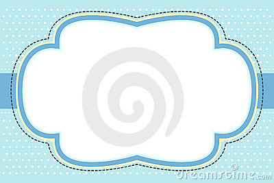 Ornate Blue Bubble Frame