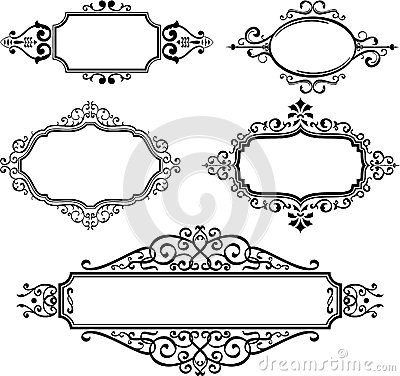 Ornate Borders Royalty Free Stock Photography Image