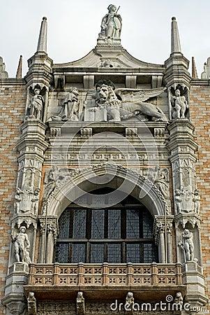 Ornate Building, Venice, Italy