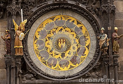 The ornate calendar dial