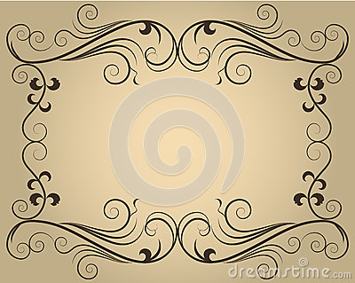 Ornate calligraphic frame