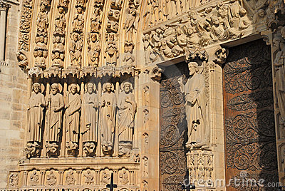 Ornate cathedral doorway