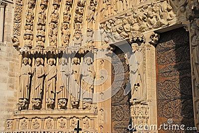 Ornate cathedral doorway