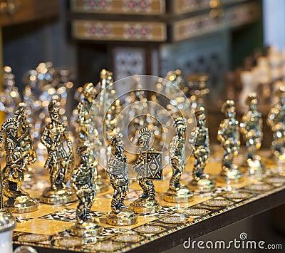 Ornate chess set