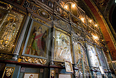 Ornate church artwork