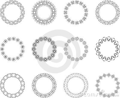 Ornate circle designs