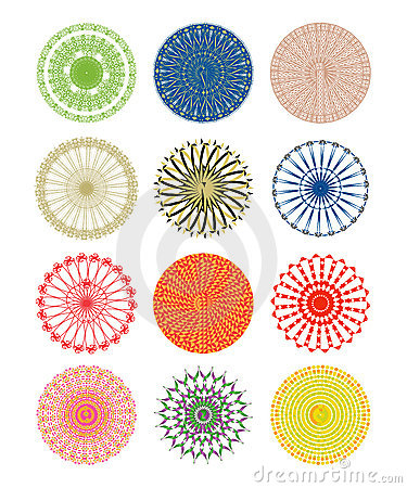Ornate circular patterns