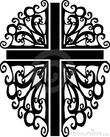 Ornate cross silhouette 2