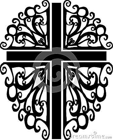 Ornate cross silhouette 2