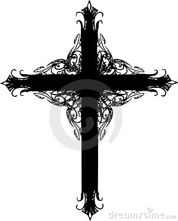 Ornate cross silhouette