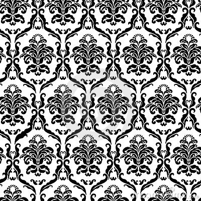 Ornate damask tile