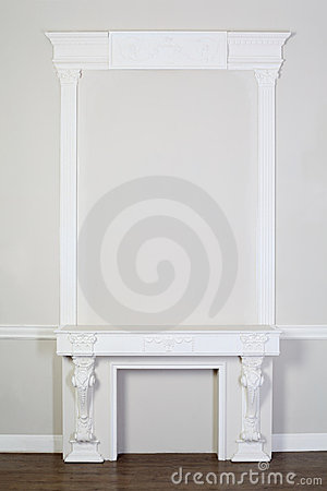 Ornate decorative plaster moldings in studio