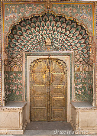 Ornate Door Jaipur City Palace