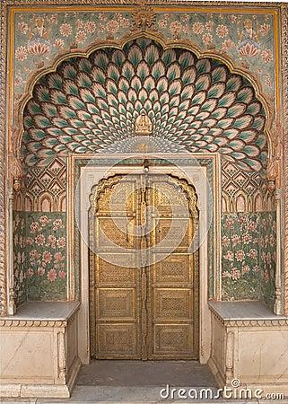 Free Ornate Door Jaipur City Palace Royalty Free Stock Photos - 373368