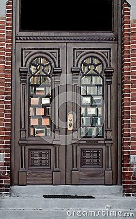 Ornate doorway in Brick Wall