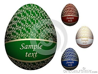 Ornate Easter eggs