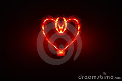 Ornate electric heart
