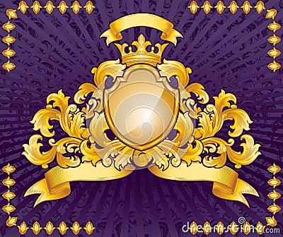 Ornate emblem