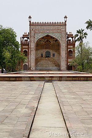 Ornate facade of Akbar s Tomb. Agra, India