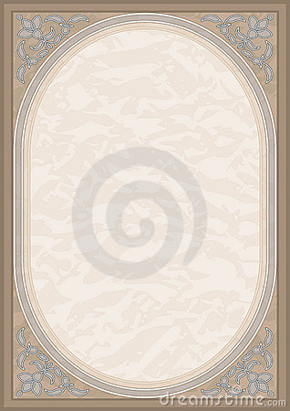 Ornate filigree background