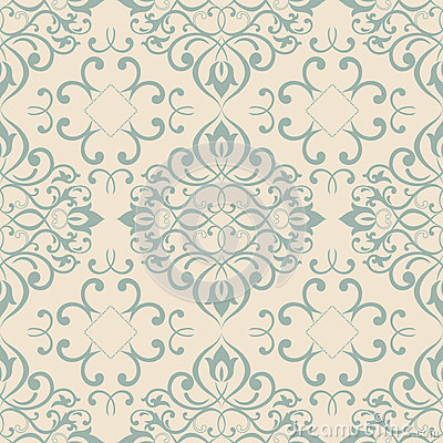 Ornate floral decor for wallpaper. Vector Illustration