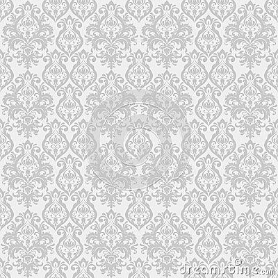 Ornate floral decor for wallpaper. Vector Illustration