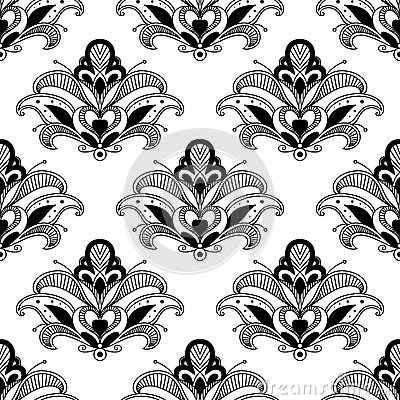 Ornate floral persian seamless pattern