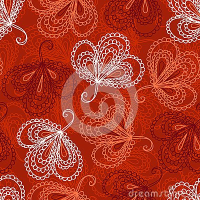 Ornate floral seamless pattern