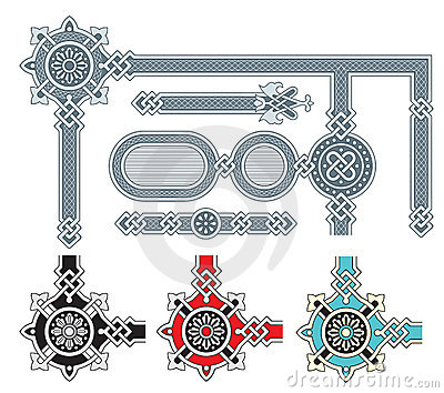 Ornate frame design elements