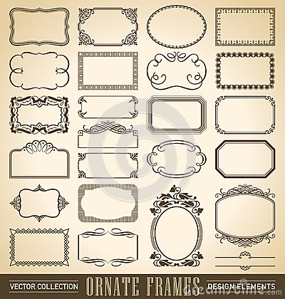 Free Ornate Frames Set (vector) Royalty Free Stock Images - 44392859
